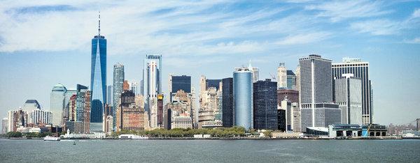 2019年,世界贸易中心一号大楼高1776英尺,是纽约最高的建筑。