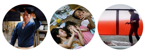 左起:《深夜食堂:东京故事》、《小偷家族》和《东京流浪者》中的场景。
