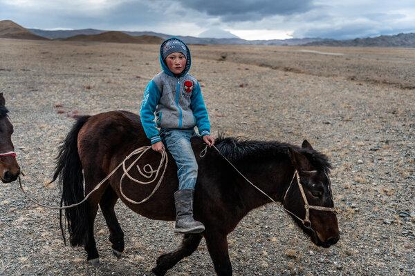 达斯坦骑在他未套马鞍的矮种马上。